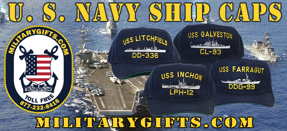 06600299376 We are a small family business located in Upstate New York. For more than  25 years we have offered custom embroidered U.S. Navy Ship Caps and  clothing.