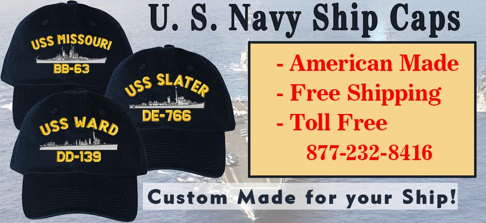 d8e6f9abd U.S. Navy Ship Caps, Custom Embroidered for your Ship. All U.S. Navy ...