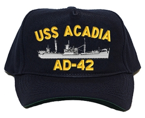 USS Acadia AD-42 Navy Ship Hats