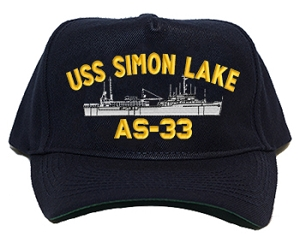 USS Simon Lake AS-33 Navy Ship Hats