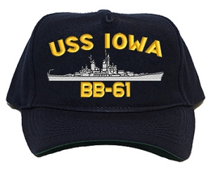 USS Iowa BB-61 Navy Ship Hats