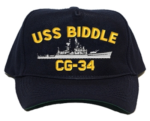 USS Biddle CG-34 Navy Ship Hats