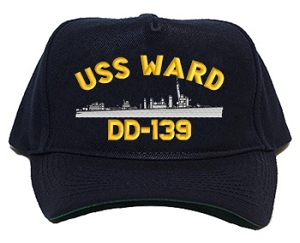 USS Ward DD-139 Navy Ship Hats
