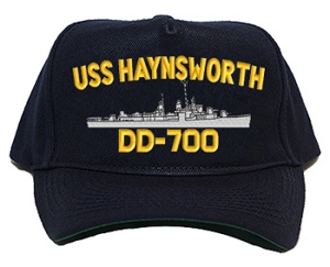 USS Haynsworth DD-700 Navy Ship Hats