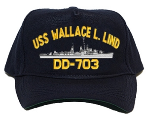 USS Wallace L. Lind DD-703 Navy Ship Hats