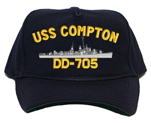 USS Compton DD-705 Navy Ship Hats