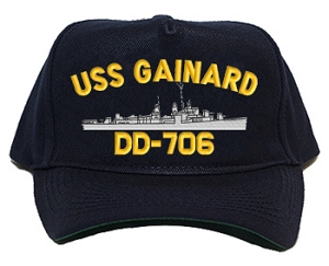 USS Gainard DD-706 Navy Ship Hats
