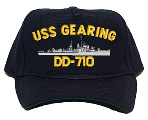 USS Gearing DD-710 Navy Ship Hats