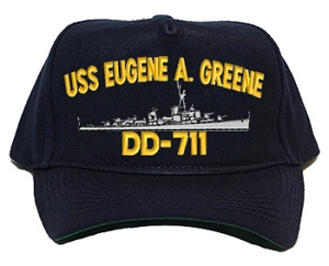 USS Eugene A. Greene DD-711 Navy Ship Hats