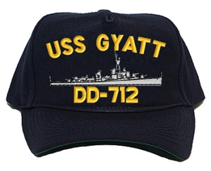 USS Gyatt DD-712 Navy Ship Hats