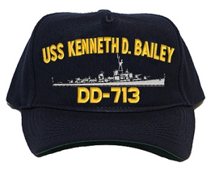 USS Kenneth D. Bailey DD-713 Navy Ship Hats