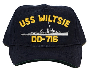 USS Wiltsie DD-716 Navy Ship Hats