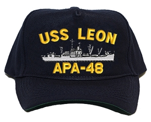 USS Leon APA-48 Navy Ship Caps