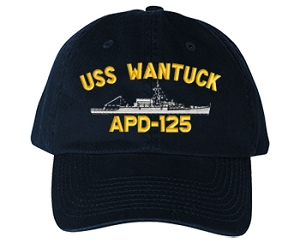 USS Wantuck APD-125 Navy Ship Hats