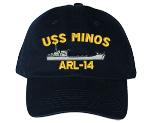 USS Minos ARL-14 Navy Ship Hats