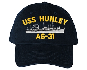 USS Hunley AS-31 Navy Ship Hats
