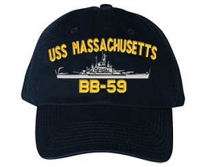 USS Massachusetts BB-59 Navy Ship Hats