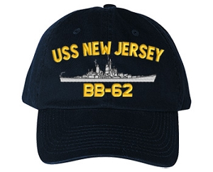 USS New Jersey BB-62 Navy Ship Hats