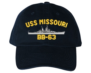 USS Missouri BB-63 Navy Ship Hats