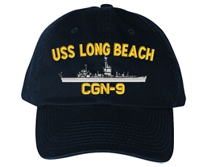 USS Long Beach CGN-9 Navy Ship Hats