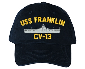 USS Franklin CV-13 Navy Ship Hats