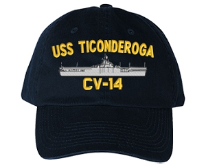 USS Ticonderoga CV-14 Navy Ship Hats
