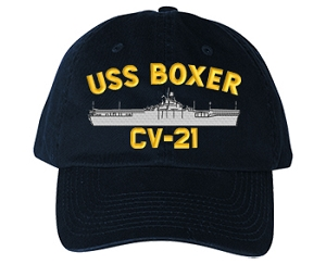USS Boxer CV-21 Navy Ship Hats