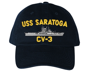 USS Saratoga CV-3 Navy Ship Hats