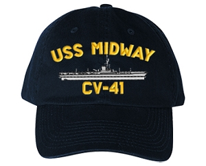 USS Midway Navy Ship Hats