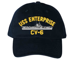 USS Enterprise CV-6 Navy Ship Hats