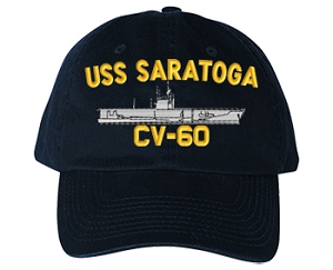 USS Saratoga CVA-60, CV-60 Navy Ship Hats