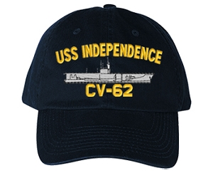 USS Independence CVA-62, CV-62 Navy Ship Hats