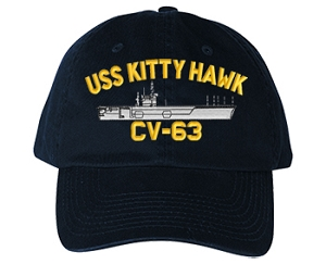 USS Kitty Hawk CVA-63, CV-63 Navy Ship Hats