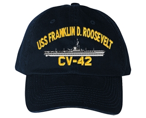 USS Franklin D. Roosevelt Navy Ship Hats