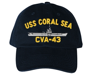 USS Coral Sea CV-43 Navy Ship Hats