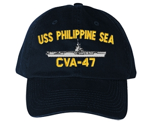 USS Philippine Sea CV-47 Navy Ship Hats