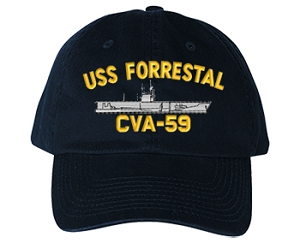 USS Forrestal CVA-59, CV-59 Navy Ship Hats