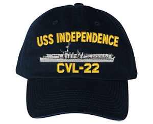 USS Independence Navy Ship Hats CVL-22