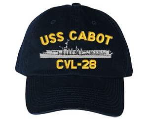 USS Cabot Navy Ship Hats