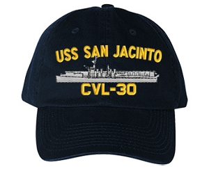 USS San Jacinto Navy Ship Hats