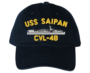 USS Saipan CVL-48 Navy Ship Hats