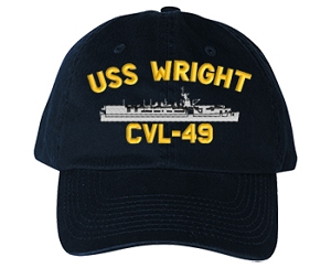 USS Wright CVL-49 Navy Ship Hats