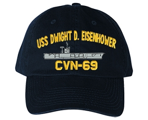 USS Dwight D. Eisenhower CVN-69 Navy Ship Hats