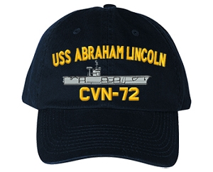 USS Abraham Lincoln CVN-72 Navy Ship Hats