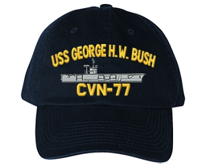 USS George H. W. Bush CVN-77 Ship Hats