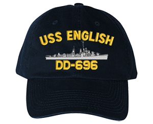 USS English DD-696 Navy Ship Hats