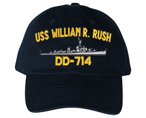 USS William R. Rush DD-714 Navy Ship Hats