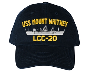 USS Mount Whitney LCC-20 Navy Ship Hats