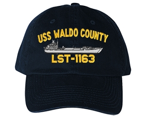 USS Waldo County LST-1163 Navy Ship Hats