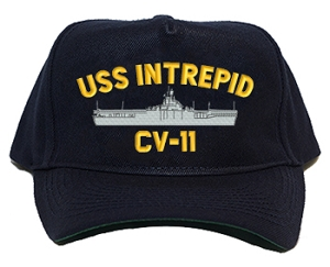 USS Intrepid CV-11 Navy Ship Hats